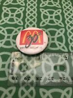 Rare McDonald's 30th Anniversary 1985 Birthday Pin Button FREE SHIPPING