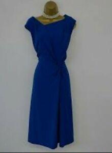 L.K Bennett Womens Smart Work Party Adela Dress Blue Size 14~Immaculate