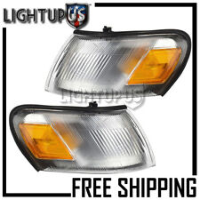 Left Right Sides Pair Corner Parking Signal Lights for 1993-1997 TOYOTA COROLLA