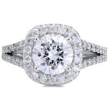 5 Carat Round Cut Diamond Engagement Ring SI1/F White Gold 14k 6183