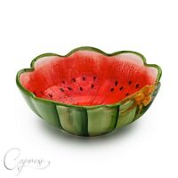 obstschale wassermelone schale melone keramik 34 cm ebay. Black Bedroom Furniture Sets. Home Design Ideas