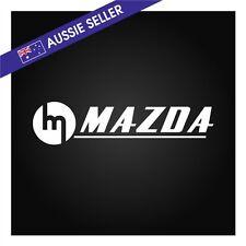 Retro MAZDA Sticker Decal - White 20cm RX7 RX3 RX4 RX5 Capella R100 20B 13B 12A