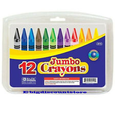 BAZIC 12 Color Premium Quality Jumbo Crayon