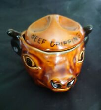 More details for szeiler studio england hand painted beef dripping pot excellent