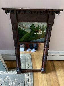 Antique Federal Reverse Painted Mirror