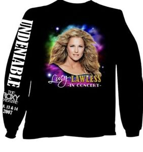 Lucy Lawless 2007 In Concert The Roxy RARE! Adult Large Long sleeve t-shirt