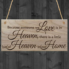 Someone We Love Is In Heaven Beautiful Memory Plaque Wooden Hanging Sign Gift
