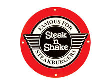 Corvette Decor: Steak and Shake Porcelain Sign Round