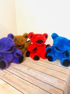 """Grateful Dead Dancing Bears Plush Vintage By Steven Smith-Read Description 12"""""""