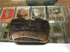 VINTAGE 1970s PEABODY COAL EAGLE NO. 2 Accident Free 5 Years MINING BUCKLE