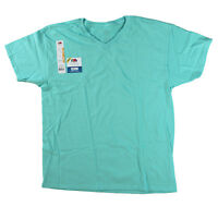 Fruit of the Loom Big Men Eversoft Short Sleeve V Neck T Shirt Scuba Blue 4XL