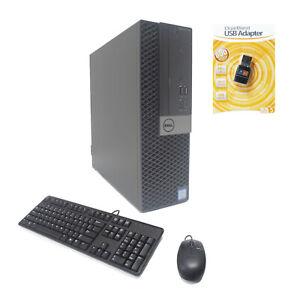 Dell 7050 SFF PC 4-Core i5-7500 3.40/3.80GHz 16GB Ram 512GB SSD AMD 2GB WIFI W10