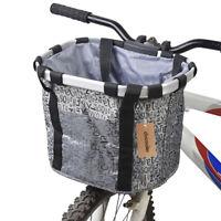 Bicycle Bike Detachable Cycle Front Canvas Basket Carrier Bag Pet Carrier I6D2