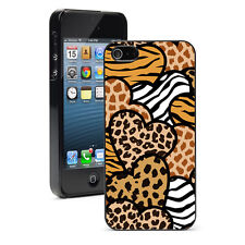 For iPhone X SE 5 5S 6 6s 7 8 Plus Hard Case Cover 881 Animal Print Hearts Love