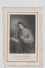 Santino canivet Holy card Les secrets de la croix Letaille XIX sec.