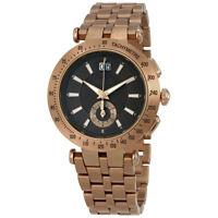 Versace V-Race Khaki Dial Bronze Ion-plated Mens Watch VAH06 0016