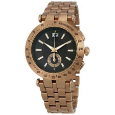 Versace V-Race Khaki Dial Bronze Ion-plated Mens Watch VAH06 0016