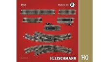 Modellbahnen der Spur H0 aus Set für Gleichstrom-Gleismaterialien