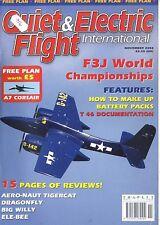 QUIET & ELECTRIC FLIGHT INTERNATIONAL MAGAZINE 2002 NOV AERO-NAUT TIGERCAT