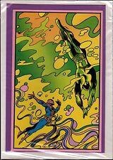 SPIDER-MAN vs SUB-MARINER THIRD EYE BLACKLIGHT GREETING CARD w Envelope 1971