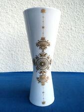 Hutschenreuther Porzellan Vase Golddekor Höhe 26,2 cm