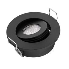 Mini spot led NOIR MAT encastrable / Orientable Blanc chaud (4000K)