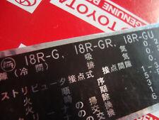 Celica RA21 RA23 RA28 RA40 RA60 RA61 RA63 18RG Corona RT85 RT95 RT104 RT114