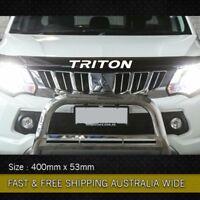 Triton Bonnet protector Decal sticker premium Vinyl Mitsubishi 4x4