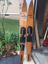 Vintage 70s Western Wood Water Skis Mike Suyderhoud
