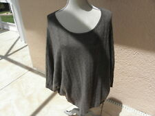 J. Jill Cashmere Brown XL SWEATER PONCHO TYPE DRAWSTRING WAIST  EUC