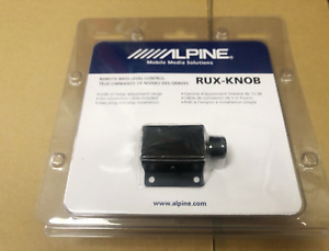 Alpine RUX Knob .2 Remote Bass Knob, Subwoofer Volume Control Amplifier