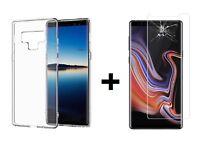 Pour Samsung Galaxy Note 9 - Film Verre Trempé + Coque Etui Housse Silicone fine