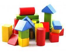 Gioco Costruzioni in Legno Colorato Educativo Per Bambini Bimbi 25 Pezzi dfh