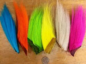 FLUORESCENT BUCKTAIL COMBO PACK. HARELINE DUBBIN. 6 COLORS / PIECES. FLY TYING