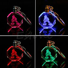 Dragon Ball Dragonball Z Super Saiyajin Goku Crystal LED light Pendant Keychain