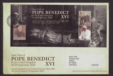 Isle of Man 2010 FDC - State Visit of Pope Benedict XVI - with m/sheet