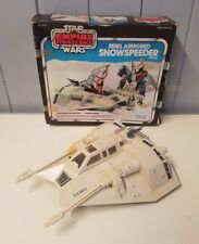 Vintage 1980 Star Wars Empire Strikes Back Rebel Armored Snowspeeder & Box Works
