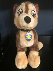"""BUILD-A-BEAR - PAW PATROL """"CHASE"""" WITH COLLAR & TAG - WONDERFUL CONDITION!!"""