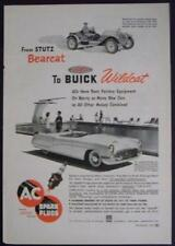 1953 AC Spark Plug AD Features Buick Wildcat and 1915 Stutz Bearcat