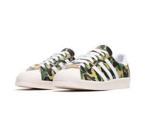 Adidas X BAPE Superstar 80s GREEN CAMO Size Men's 8.5 / Women's 10 - CONFIRMED