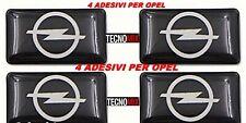 4 adesivi piccoli stemma logo volante porta portiera interni auto Opel