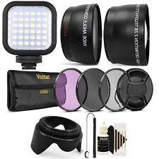 52MM Lens Filter Accessory Kit + Compact Light for NIKON D3300 D3200 D3100 D90