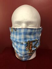 Pooh Tigger Eeyore Pleated Cotton Face Mask With Elastic Loops