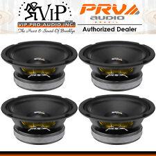 "PRV Audio 6MB200 6.5"" Mid Bass Woofer 8-Ohm 100W Mid-Range Car Speaker (FOUR)"
