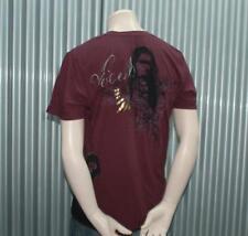 Ve'cel S/S Tattoo T-Shirt Maroon Vecel Tee RARE!  Chester Bennington $65 L