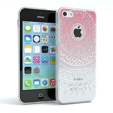 Hülle für Apple iPhone 5C Schutz Cover Handy Case Motiv Pink / Weiß