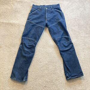 G-Star Elwood Shortcut Size 32x32 Mens Adult Jeans Denim Pants Blue Button Fly