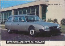 Citroen CX Safari 2000 & 2400 Petrol Estate 1976-79 Original Handbook