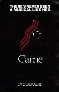 BROADWAY FLYER for CARRIE, THE MUSICAL