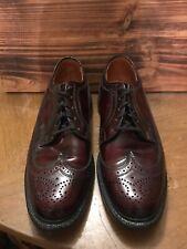 Vintage Custom British Walkers Burgundy Leather Wingtip Oxford Shoes 9.5 C